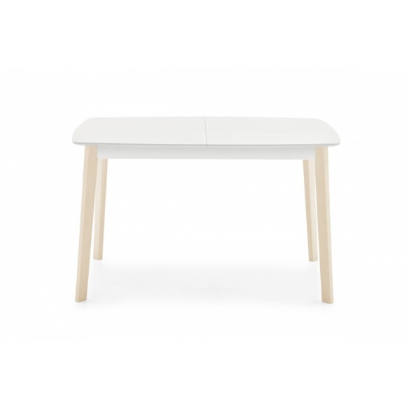 Cream (130): Rectangular Extendable Wooden Dining Table