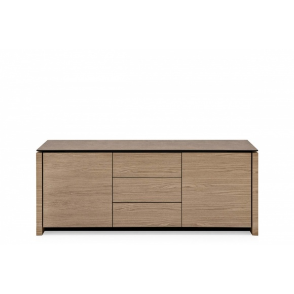 Mag (10A): Modern 2 Compartment Sideboard with 3 Central Drawers