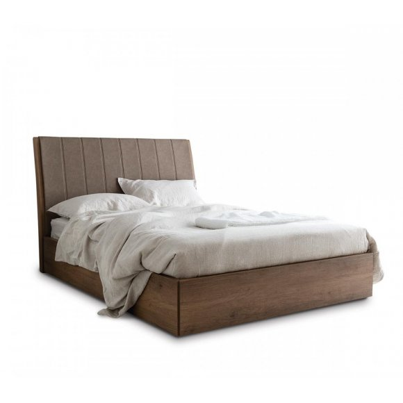 Salton: Partially-Upholstered-Headboard Bed