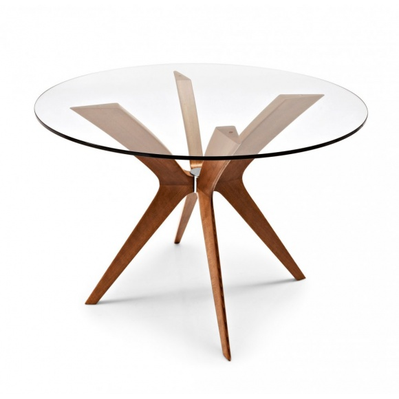 Calligaris Tokyo Round Glass Top Dining Table