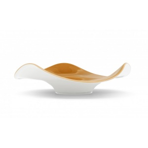 "Lorraine: ""Lorraine"" is a large decorative centrepiece bowl with an elegant and sophisticated design. Made from opal glass obtained through ""free-blowing"", the most creative blowing techniques, it is available in several two-colour glossy finishes (always white on the external side). Choose it to complete your table decoration or as a gift idea."