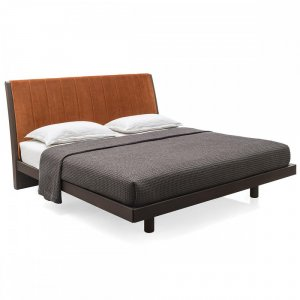 salton: Partially-Upholstered-Headboard Platform Bed